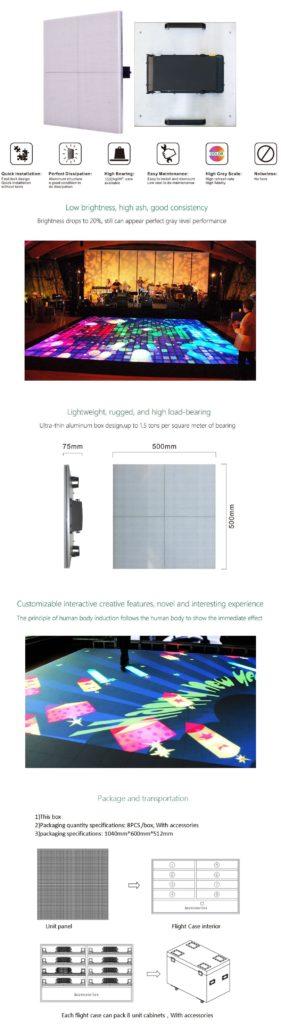 floor video screen