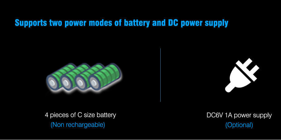 Batteries or Power adapter