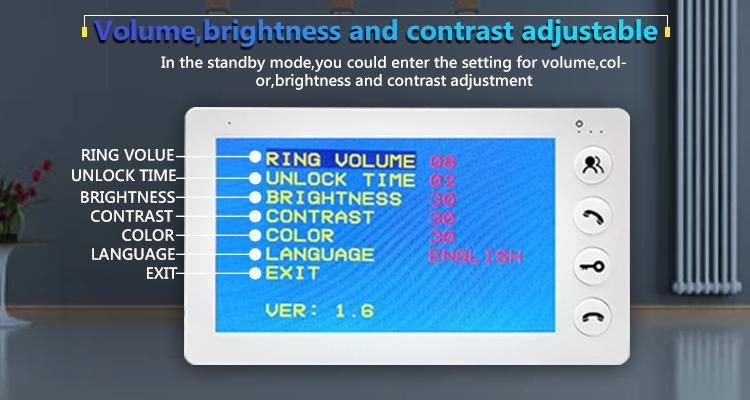 Adjustable, bright screen
